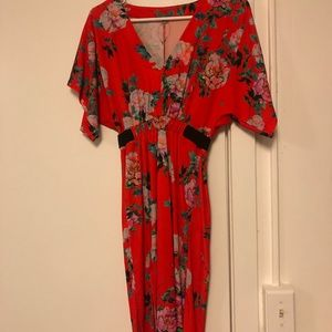NWT Red Floral ASOS dress.